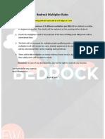 Bedrock Multiplier Rules