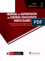Manual de Supervisión de Centros Educativos Particulares.  Compendio de normas legales de protección al consumir en el sector Educación