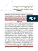 Carbon Nanotubes as Solid Lubricant Additives for Antiwear Performance Enhancement under Mixed Lubrication Conditions