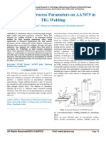 Influence of Process Parameters on AA7075 in TIG Welding