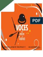Tarjeta Voces