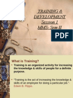 training and development-Session 1 PDF
