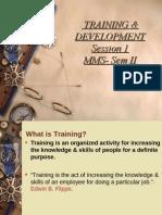 training and development-Session 1 PDF