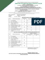 Daftar Hadir Pengawas Dan Serah Terima Naskah Berkas Ujian Nasional