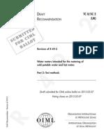 draft OIML R 49-2 - ISO 4064-2_2013
