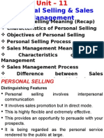 11. Personnel Selling Sales Management