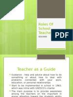 Teacher as a Guide