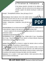 Acid Base Indicators
