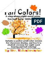 Fall Colors Sight Word Song