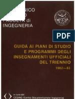 Politecnico di Torino Guida Triennio 1982-83 Ingegneria