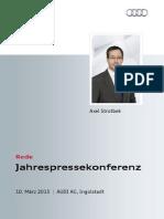 Axel Strotbek - Jahrespressekonferenz 2015