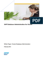 White Paper SAP Database Administration for Oracle