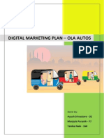 Digital Marketing Plan of OLA Autos