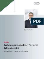 Rupert Stadler - Jahrespressekonferenz 2015