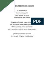 Poemas (2) Bernardo o'Higgins