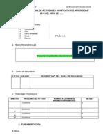 Formato Programacion Anual 2014