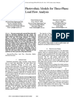 Grid-Connected Photovoltaic Models for Three-Phase Load Flow Analysis