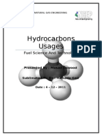 Hydrocarbon Usages