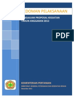 Pedoman Pelaksanaan Pengajuan Proposal Ta 2013