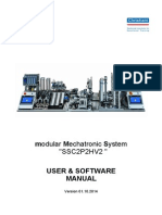 "modular Mechatronic System ""SSC2P2HV2 "" USER & SOFTWARE MANUAL"