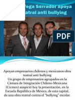Ricardo Vega Serrador Apoya Obra Teatral Anti Bullying