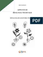 Appunti di Biologia Vegetale. Istologia e Anatomia Vegetale