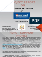 Customer Retention Strategies at HDFC Bank