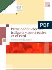 Participacion Electoral Indigena y Cuota Nativa en El Peru
