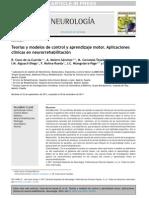 Teorías y Modelos de Control y Aprendizaje Motor. Aplicaciones Clínicas en Neurorrehabilitación
