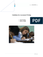 !guidelines for assessment writing