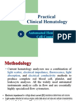 Automated-Hematology-Cell-Counters ppt | Anemia | Body Fluids