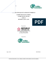 Construction Quality Assurance Plan 07 2011