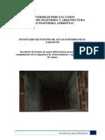 Inventario de Aguas Subterraneas