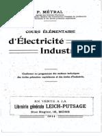 P.métral - Cours Élémentaire d'Électricité Industrielle