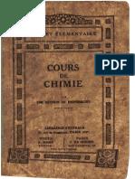 PRP - Cours de Chimie(1920)
