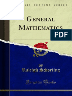 General Mathematics