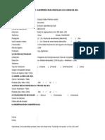 Ficha de Inscripcion jica