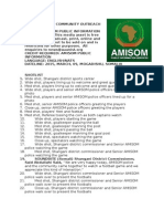 AMISOM COMMUNITY OUTREACH