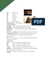 Terminology sheet