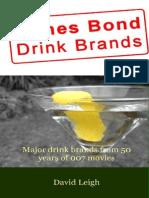 James Bond Drink Brands