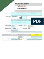 Sample Cost Estimate Worksheets Template