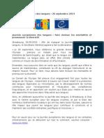 Journée Européenne Des Langues 26 Septembre 2014