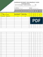 Bdu Exam Format