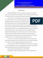 OJT reflection Paper