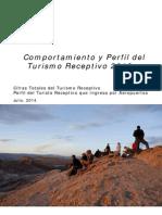 Comportamiento Turismo Receptivo 2013