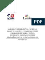 Bases Concurso Cargos Docentes 2015