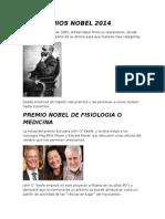 Los Premios Nobel 2014