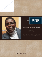 Barbara Smith Memorial Service Program