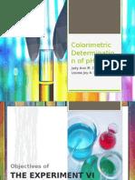 Colorimetric Determination of PH