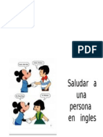 Saludar a Una Persona en Ingles